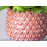 Bloomingville Blumentopf Rot Tropfen 3D Struktur Detail Keramik