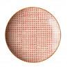 Bloomingville Carla Plate rot Essteller ca 25 cm Durchmesser