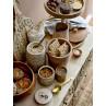 Bloomingville Dose mit Deckel Akazie Holz Rattan auch als Brot Schale Korb