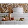 Bloomingville Geschirr Paula Teller Becher Vase und Lampe gold weiß Fransen
