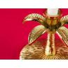 Bloomingville Kerzenhalter gold Palme Blätter und Fuß im Detail