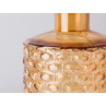 Bloomingville Vase Glas braun orange 19 cm hoch Waben Design Muster erhaben Blumenvase Modern Dekoration Detail
