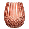 Bloomingville Vase rot Glas 17 cm hoch