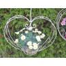 Blumenampel Herz 29x60 cm Hänger Länge 130 cm Herzform Blumendeko Hochzeitsdeko