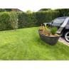 Chic Antique Deko Badewanne mit Füßen aus Metall Schwarz 100 Liter 129x56x59 cm Groß drinnen und draussen mit Pflanzen und Blumen