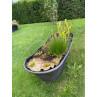 Chic Antique Deko Badewanne mit Löwenfüßen aus Metall 100 Liter 129x56x59 cm als dekoratives Hochbeet im Garten