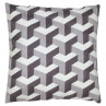 Gate Noir Kissen 50x50 Geometric Design grau Greengate