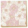 Gate Noir Servietten Flori Pale Pink klein Greengate Papierservietten rosa Blumen 12,5x12,5 cm