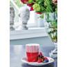 GreenGate Geschirr Corine bordeaux rot Teller mit Goldrand und Latte Cup Becher aus Porzellan