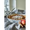 Greengate Geschirrtuch RILEY Grau Schwarz Gestreift Baumwolle 50x70 mit SAVANNAH Schale und Penny Kuchenform