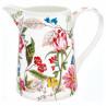 Greengate Kanne ELLEN Weiß aus Porzellan Krug mit Bunten Blumen 1 Liter Greengate Produkt Nummer STWJUG1LELE010