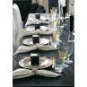 Greengate Kuchenteller Celine schwarz Teller Dawn gold Kerzenhalter Kristallglas Tischdecke Baumwolle 150x250
