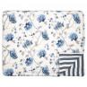 Greengate Quilt CHARLOTTE Weiss Blau Blumen Decke 140x220 cm GG Tagesdecke Nr QUIBED140CHL0102