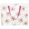Greengate Tasche Mary weiß mit Blumen Storage Bag PET Kunstoff recycelt Aufbewahrungstasche groß