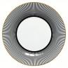 Greengate Teller Corine schwarz weiß Gate Noir Porzellan Kuchenteller 20 cm mit Goldrand