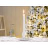 IB Laursen Kerzenhalter Kammerleuchte weiß Weihnachtsdeko mit weißer Kerze