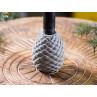 IB Laursen Kerzenhalter Zapfen grau Kerzenstaender Tannenzapfen aus Beton Advents und Weihnachtsdekoration Dekoidee Detail