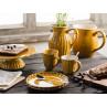 IB Laursen Mynte Geschirr Gelb Senfgelb Mustard Becher Kuchenteller Krug Vase und Tortenplatte Geschirrtuch