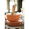 IB Laursen Mynte Schalensatz Orange Keramik Geschirr Pumpkin Spice Schüssel und Teller Stapel