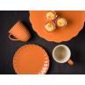 IB Laursen Mynte Tortenplatte Kanne Becher Teller Muffinform in Orange Keramik Geschirr Serie Pumpkin Spice Muffins