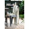 Ib Laursen Plaid hellgruen creme streifen schmal Decke Stuhl Tisch Küche Trend