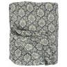 IB Laursen Quilt Anthrazit Grau Baroque Tagesdecke 130x180 im Barock Design dunkelgrau weiß