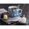 IB Laursen Teller Schale Becher staubig blau weiß Blumen aus der Geschirr Serie Liva
