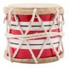 IB Laursen Trommel groß rot weiß gestreift mit Kordel und chrom Ring 65 mm hoch