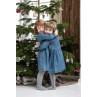 IB Laursen Weihnachtsdeko Hänger Tannenbaum aus Baumwolle Kinder vor Weihnachtsbaum