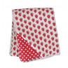 Krasilnikoff Decke Erdbeeren Quilt Rückseite rot mit weißen Punkten