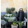 Lungo Gießkanne schwarz Garten Deko im Kaffeekannen Design von Xala für 12 Liter