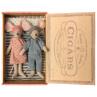 Maileg Maus Mama & Papa in Zigarrenschachtel im Schlafanzug mit Schlafmaske