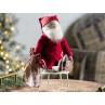 Maileg Winter Friends Pixy Santa sitzend mit Sack Weihnachten Deko Wichtel Weihnachtsmann Weihnachtsdeko 40 cm