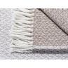 Pad Decke Madison beige Muster und Fransen im Detail