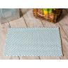 Pad Outdoor Teppich Fussmatte POOL Opal Türkis Weiss 52x72 cm zweifarbig für Terrassen oder auch im Badezimmer Matte robustes Gewebe modernes Design
