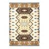 Pad Outdoor Teppich Quero Matte im Indianer Design für den In und Outdoor Bereich in blau
