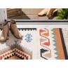 Pad Teppich Quero Outdoor Matte im Indianer Look beige creme