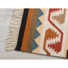 Pad Teppich Quero rot creme 140x200 Outdoor und Indoor Teppich mit Fransen im Detail