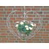 Pflanztopf Hänger HERZ Gross Metall 29x60x130 cm Blumenampel Hochzeitsdeko Blumentopf Halter hängend