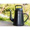 Schwarze Lungo Giesskanne Kaffeekanne aus Kunststoff 12 Liter Inhalt Xala Design Gartendeko
