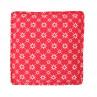 Sitzkissen Diagonal rot Blumen weiß Boxcushion Krasilnikoff