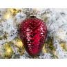 Tannenbaum Hänger ZAPFEN XL Rot glänzend 25 cm Weihnachtsdeko Tannenzapfen groß