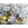 Tannenbaumkugel Gracia Weiß 3er Set Hänger Weihnachstdeko Tannenbaumschmuck Baumschmuck nostalgisch