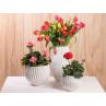 Vase Frieda weiss Keramik drei Größen Blumenvase