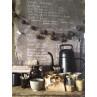 Xala Coffee Time Lungo Gießkanne im Nostalgie Kaffekannen Design schwarz
