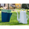 Xala Eimer Drop Grün und Blau mit Lungo Giesskanne aus Kunststoff im Garten