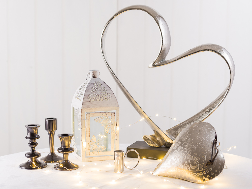 Hochzeitsdekoration kaufen und individualisieren Ideen und Inspirationen mit Wohnaccessoires und Deko aus Kerzenhaltern Laternen und Herzen