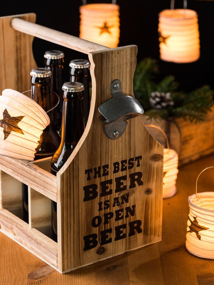 Originelle Weihnachtsgeschenke für Männer, weil Männer unkonventionell sind - Bierhalter Lampions