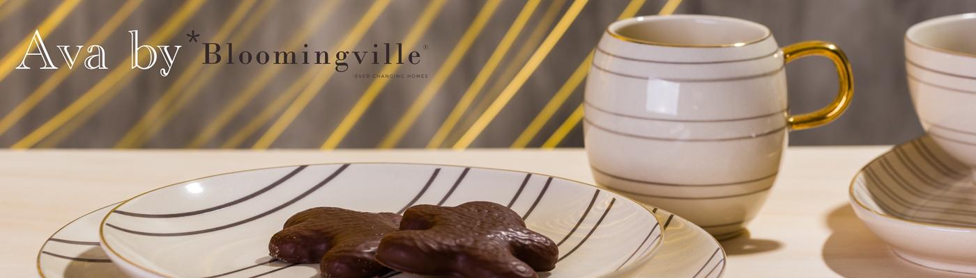 Bloomingville Geschirr Ava mit Goldrand