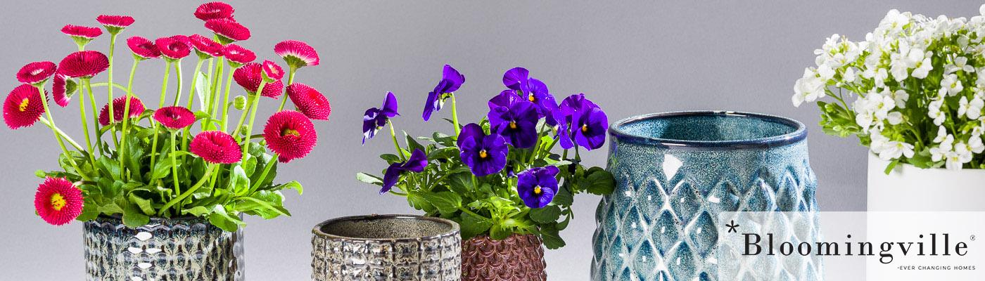 Bloomingville Shop - Blumentopf und Übertöpfe für Terrasse und Balkon - Dekoration aus Keramik